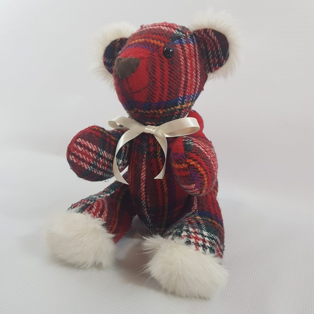 memory bear with fluffy feet and ears