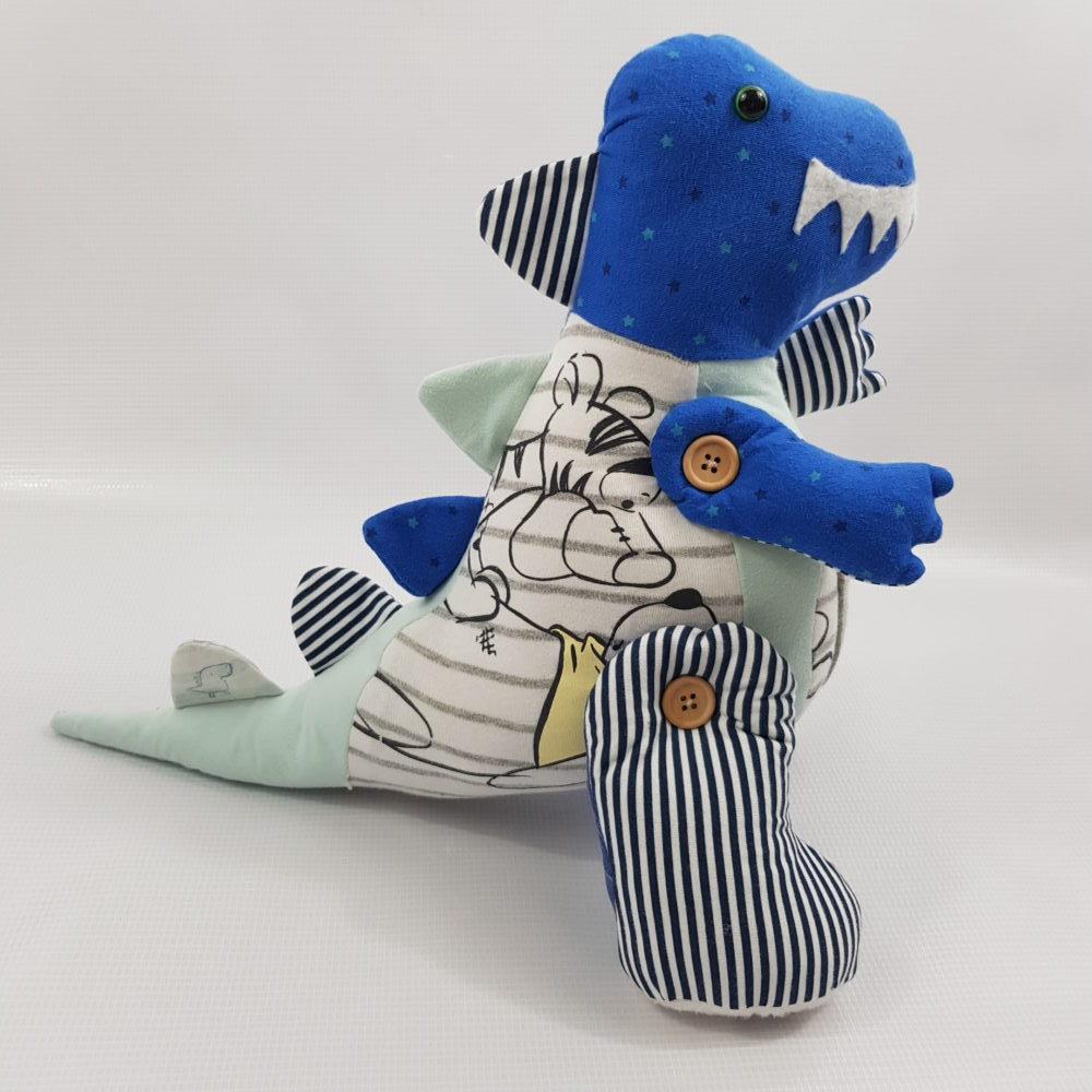 blue memory dinosaur