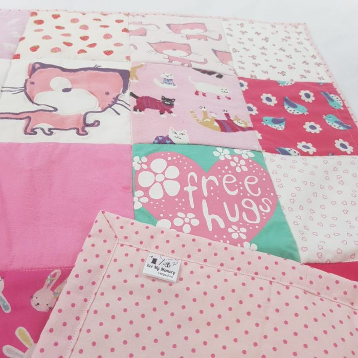 memory quilt pink