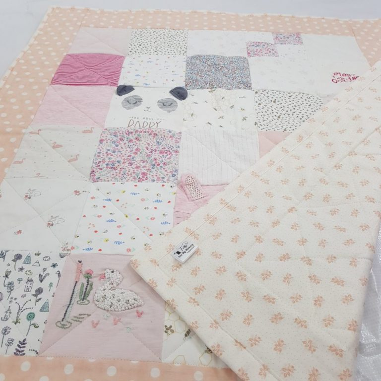 memory quilt baby pink
