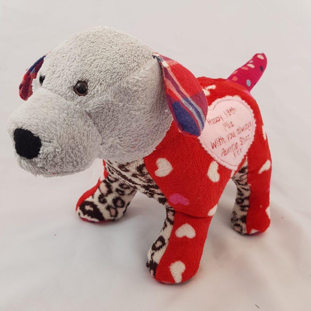 keepsake dog using sentimental clothing or babygros